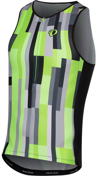 Pearl Izumi Men's ELITE Pursuit Graphic Tri Singlet Color: Screaming Green Plexus
