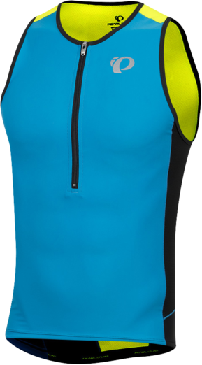 Pearl Izumi DEAL - Men's ELITE Pursuit Tri Singlet Color: Atomic Blue/Screaming Yellow