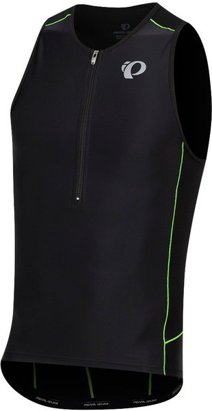Pearl Izumi Men's ELITE Pursuit Tri Singlet Color: Black/Screaming Green