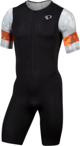 Pearl Izumi Men's ELITE Tri Speed Suit Color: Black/Screaming Orange Pulse