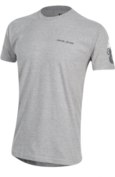 Pearl Izumi Men's Graphic T-Shirt Color: Bike Shadow Dark Heather Gray