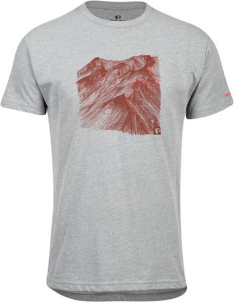 Pearl Izumi Men's Graphic T-Shirt Color: Heather Grey Mountain