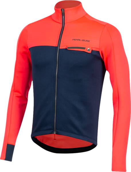 Pearl Izumi Men's INTERVAL Thermal Jersey Color: Atomic Red/Navy