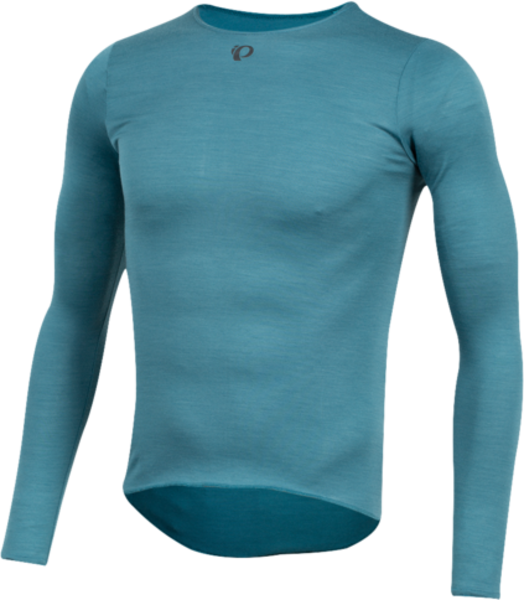 Pearl Izumi Men's Merino Long Sleeve Baselayer Color: Hydro