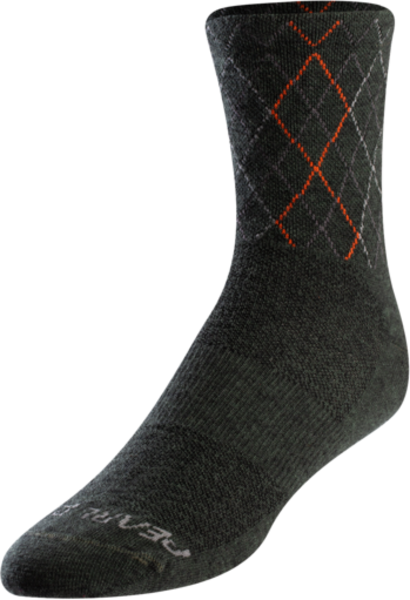 Pearl Izumi Men's Merino Sock Color: Forest/Flame Crossing