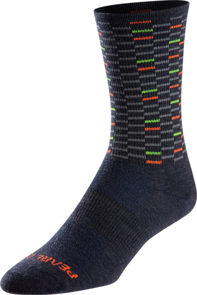 Pearl Izumi Men's Merino Tall Wool Sock Color: Navy Dash