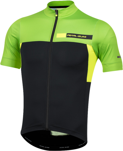 Pearl Izumi Men's P.R.O. Escape Jersey Color: Black/Screaming Green Coast