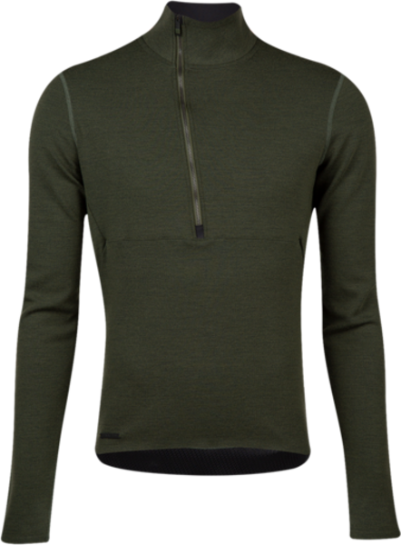 Pearl Izumi Men's PI / BLACK Merino Thermal Jersey Color: Forest