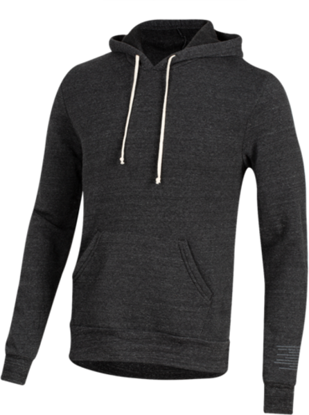 Pearl Izumi Men's Pullover Hoodie Static Logo Color: Linear Bike Black