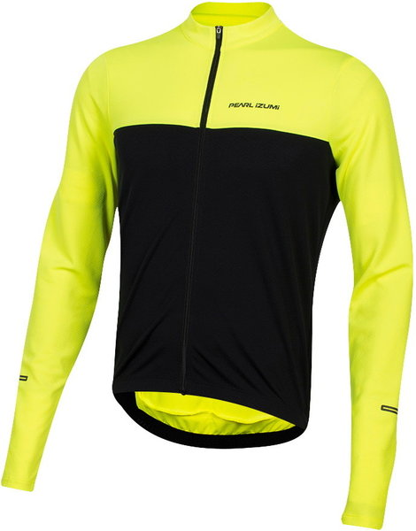 Pearl Izumi QUEST Long Sleeve Jersey - Men's Color: Screaming Yellow/Black