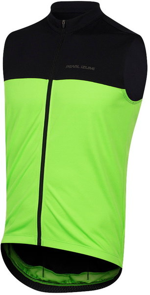 Pearl Izumi Men's Quest Sleeveless Jersey Color: Black/Screaming Green