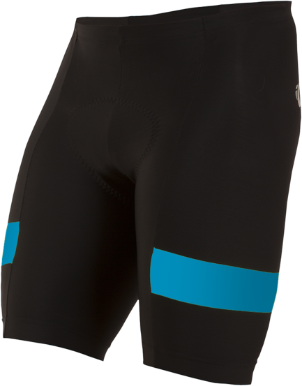 Pearl Izumi Men's Quest Splice Shorts Color: Black/Atomic Blue