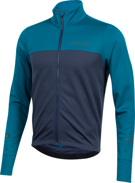 Pearl Izumi Men's Quest Thermal Jersey Color: Teal/Navy