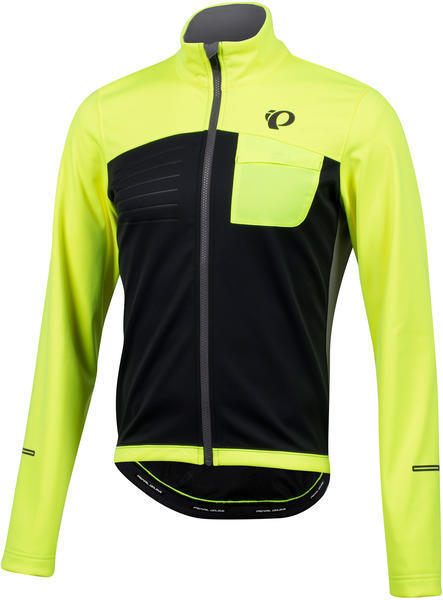 Pearl Izumi Men's SELECT Escape Softshell Jacket Color: Screaming Yellow / Black
