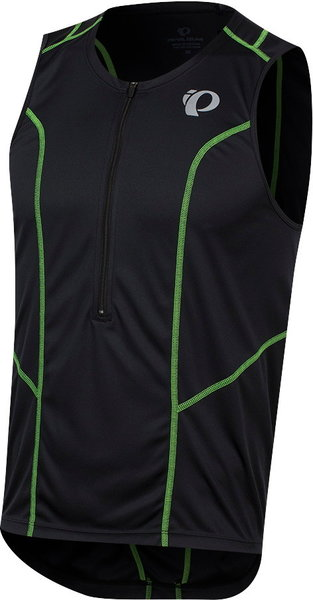 Pearl Izumi Men's SELECT Pursuit Tri Sleeveless Jersey Color: Black/Screaming Green