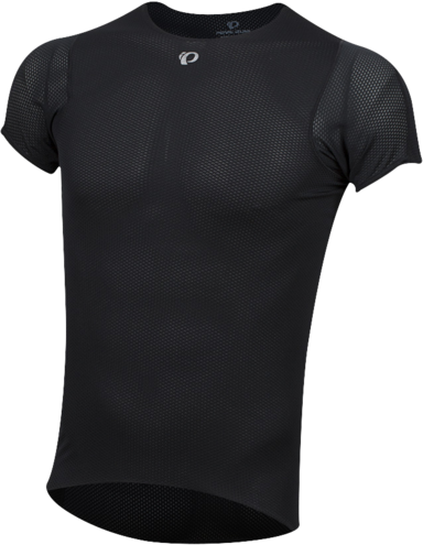 Pearl Izumi Men's Transfer Short Sleeve Base Layer Color: Black
