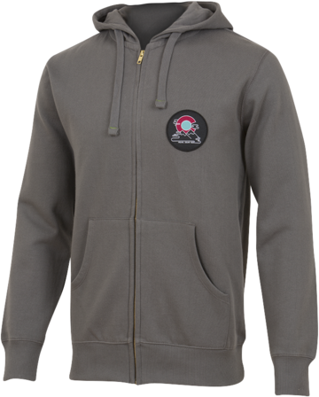 Pearl Izumi Men's Zip-Up Hoodie Color: Light Charcoal