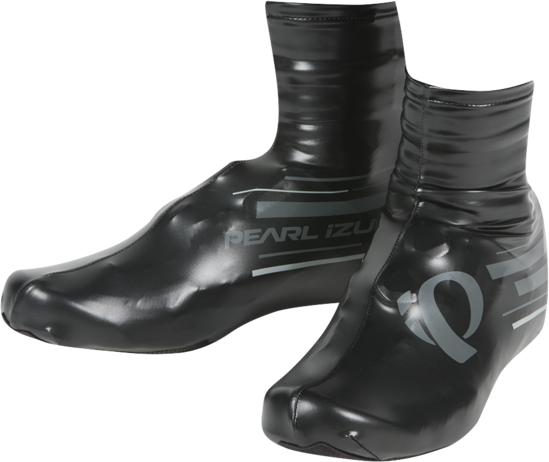 Pearl Izumi P.R.O. Barrier Lite Shoe Covers Color: Black/Shadow Grey