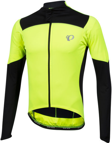 Pearl Izumi Men's P.R.O. Pursuit LS Wind Jersey Color: Screaming Yellow / Black