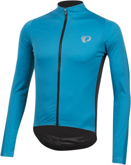 Pearl Izumi Men's P.R.O. Pursuit Long Sleeve Wind Jersey Color: Atomic Blue/Black