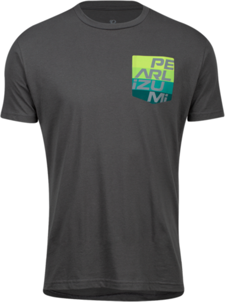Pearl Izumi Men's Pocket T Shirt Color: Heavy Metal Aspect Pocket