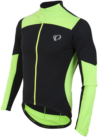 Pearl Izumi P.R.O. Pursuit LS Wind Jersey Color: Black/Screaming Green