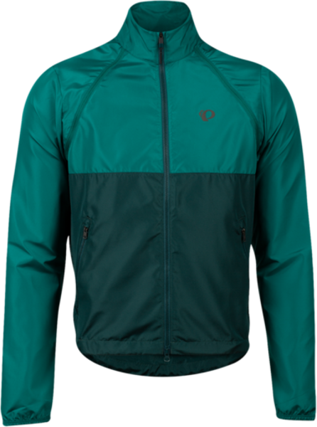 Pearl Izumi Men's Quest Barrier Convertible Jacket Color: Alpine Green/Pine