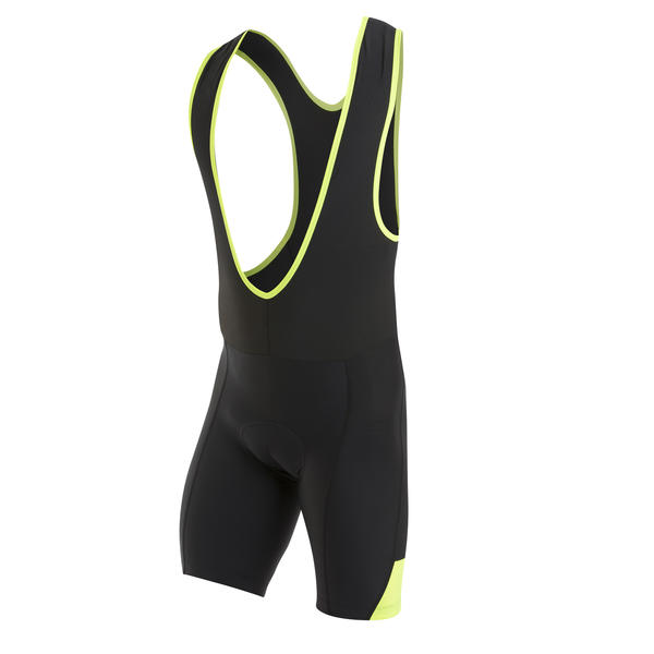 Pearl Izumi Quest Splice Bib Short Color: Black/Screaming Yellow