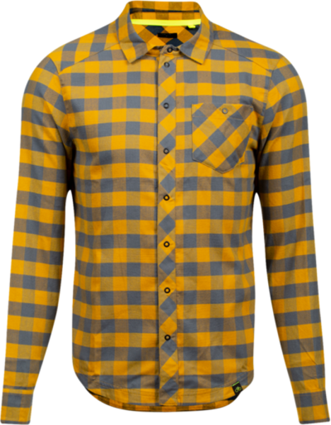 Pearl Izumi Rove Long Sleeve Shirt Color: Turbulence/Gold Plaid