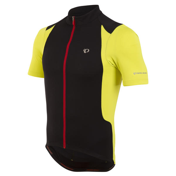 Pearl Izumi Men's SELECT Pursuit Jersey Color: Black/Lime Punch