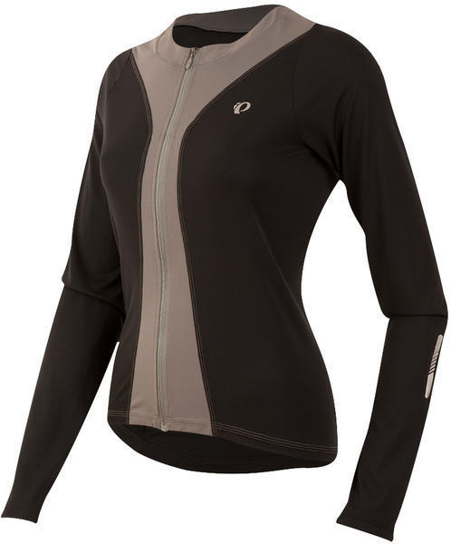 Pearl Izumi Women's SELECT Pursuit LS Jersey Color: Black / Smoked Pearl