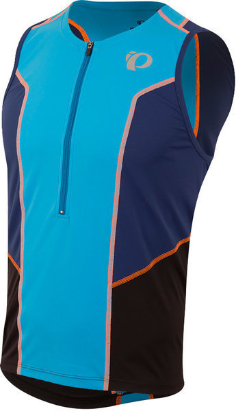 Pearl Izumi Men's SELECT Pursuit Tri Sleeveless Jersey Color: Bel Air Blue / Blue Depths