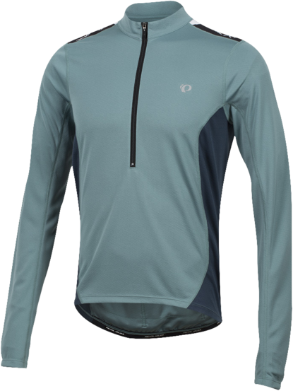 Pearl Izumi Men's SELECT Quest Long Sleeve Jersey Color: Arctic/Midnight Navy