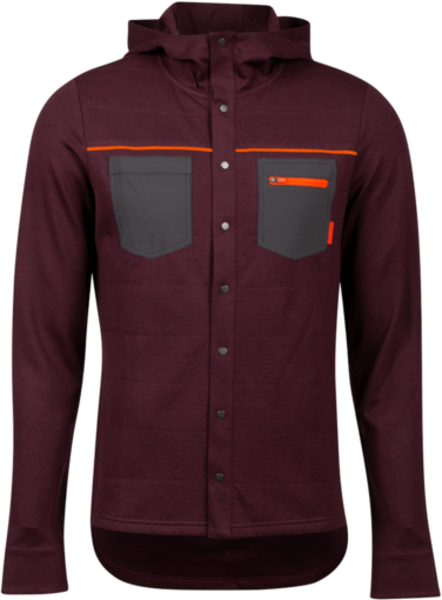 Pearl Izumi Summit Insulated Shirt Color: Garnet Heather