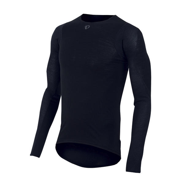 Pearl Izumi Transfer Wool Long Sleeve Base Layer Color: Black