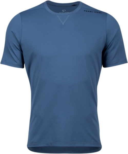 Pearl Izumi Men's Vista T Shirt Color: Dark Denim Wordmark