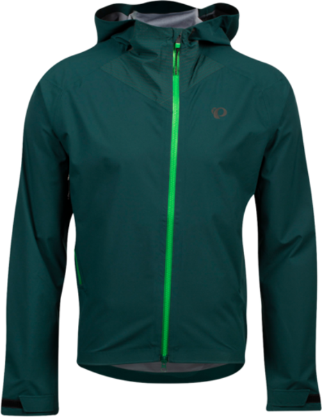 Pearl Izumi Men's Vortex WxB Hooded Jacket Color: Pine/Grass
