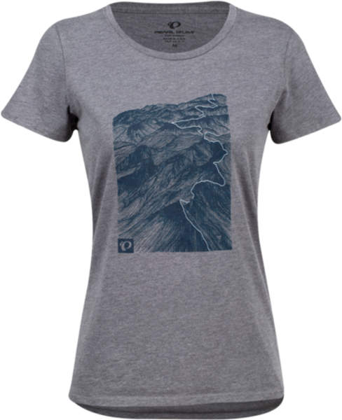 Pearl Izumi Women's Graphic T-Shirt Color: Blue Heather Ash Mountains