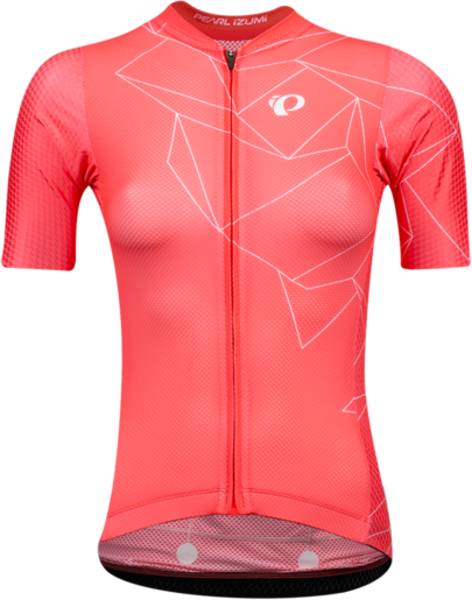 Pearl Izumi Women's PRO Mesh Jersey Color: Atomic Red/White Origami