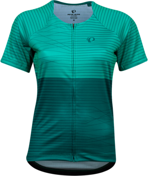 Pearl Izumi Women's Canyon Graphic Jersey Color: Malachite/Alpine Frequency