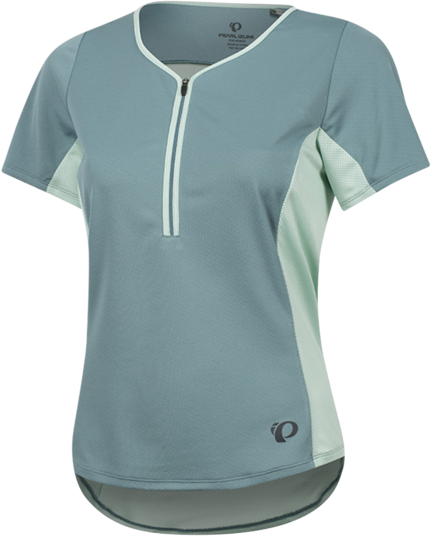 Pearl Izumi Women's Canyon Jersey Color: Arctic/Mist Green