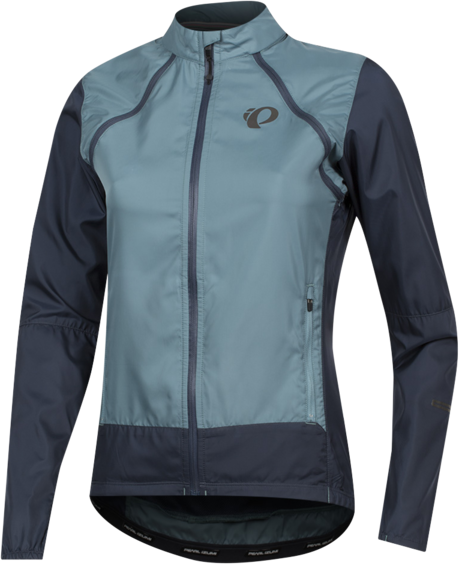 Pearl Izumi Women's ELITE Escape Barrier Convertible Jacket Color: Arctic/Midnight Navy