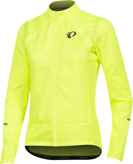 Pearl Izumi Women's ELITE Escape Barrier Convertible Jacket Color: Screaming Yellow