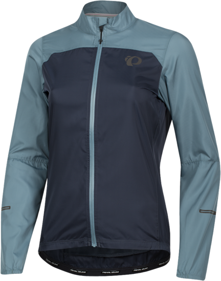 Pearl Izumi Women's ELITE Escape Barrier Jacket Color: Arctic/Midnight Navy
