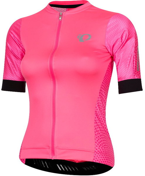 Pearl Izumi Women's ELITE Pursuit Speed Short Sleeve Jersey Color: Screaming Pink Kimono