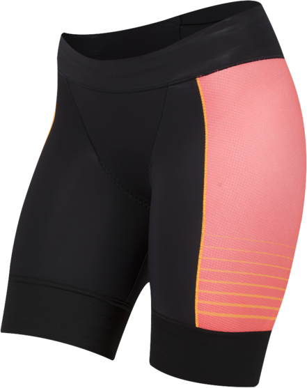 Pearl Izumi Women's ELITE Pursuit Tri Shorts Color: Black/Orange Pop Diffuse