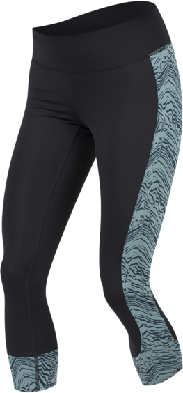Pearl Izumi Women's Escape 3/4 Tights Print Color: Black/Arctic Phyllite