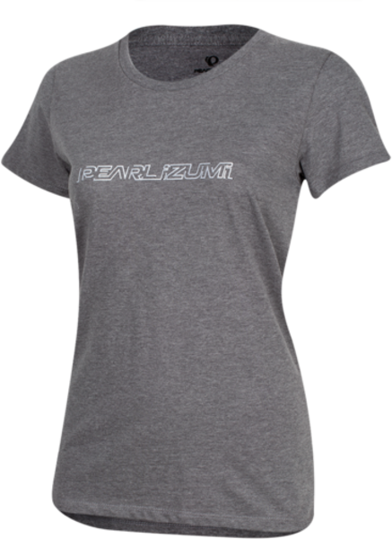 Pearl Izumi Women's Graphic T-Shirt Color: Bartack Logo Heather Ash