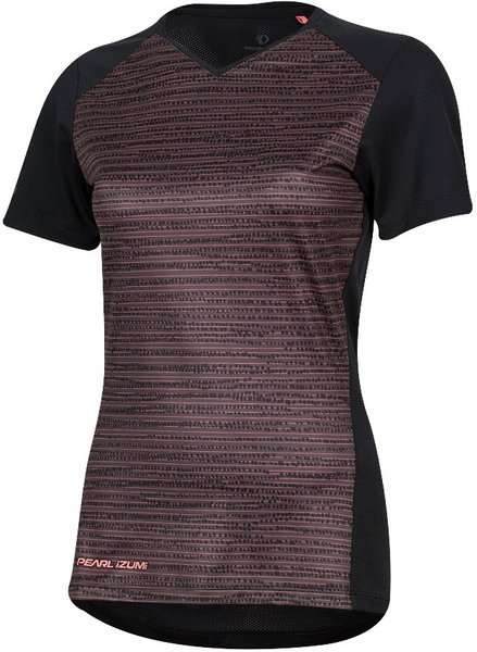 Pearl Izumi Women's Launch Jersey Color: Black/Sugar Coral Vert