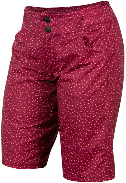 Pearl Izumi Women's Launch Print Shorts Color: Beet Red Flicker